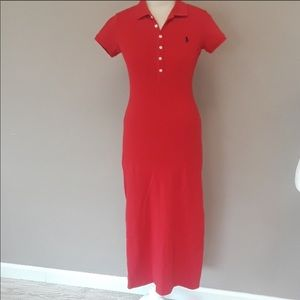 Ralph lauren red polo dress
